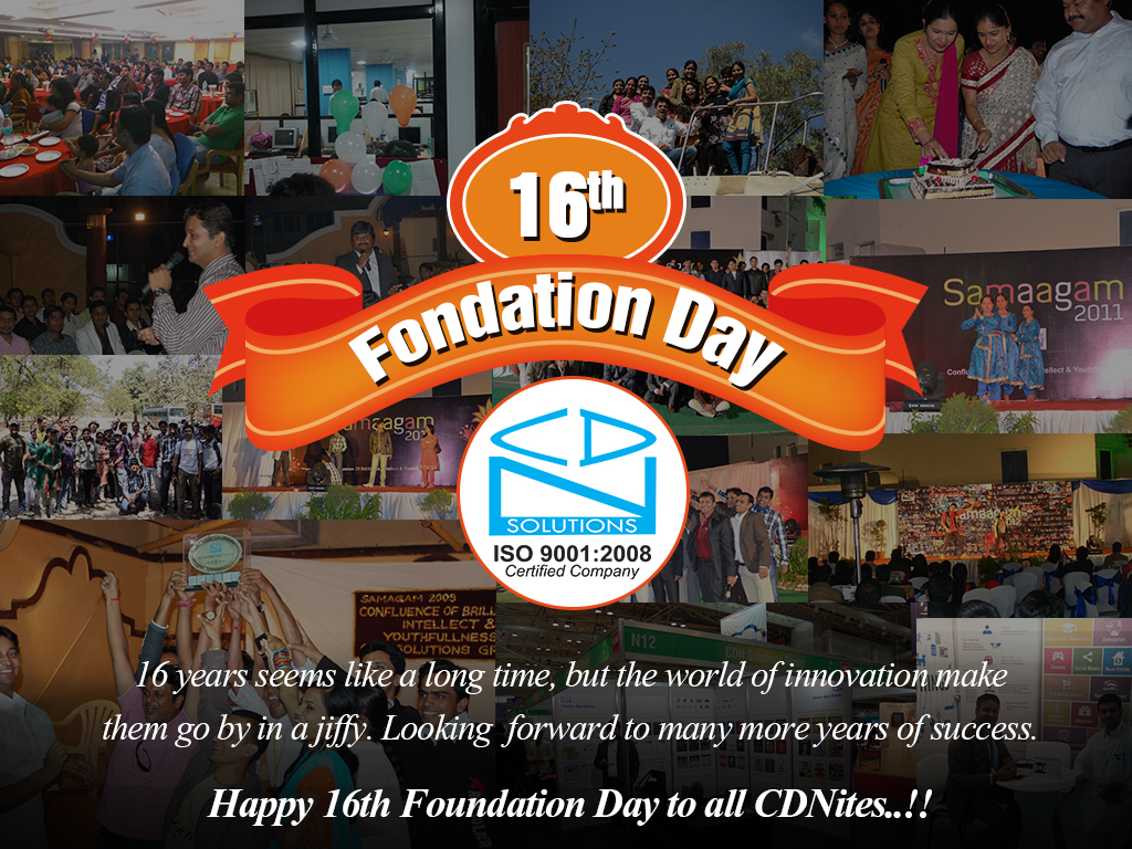 16th foundation day-CDN Software Solutions