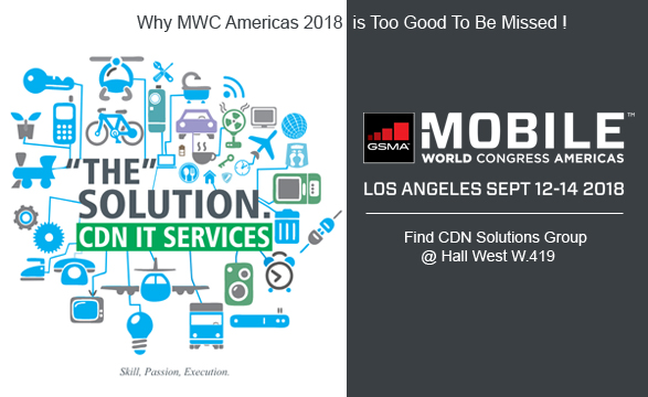 Meet IT solution provider at Mobile World Congress Los Angeles Sept 12-14,2018