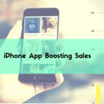 Iphone app boosting sales
