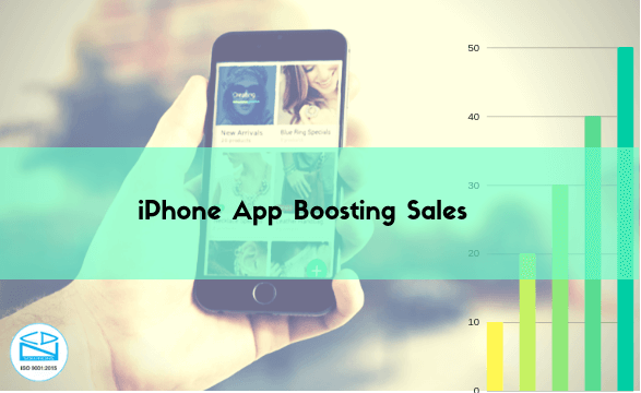 Iphone app boosting sales