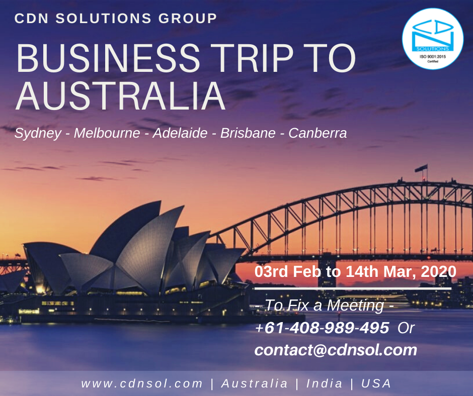 cdn solutions group business trip to australia