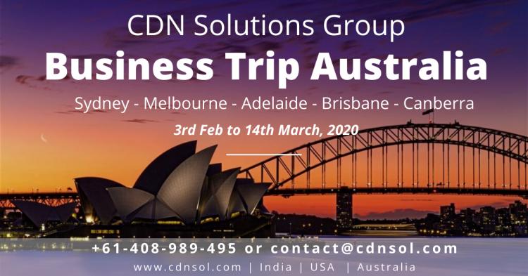 CDN Solutions Group at business trip australia